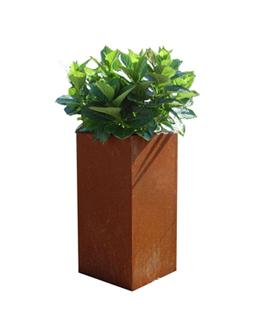 A + Concepts RVS | Cortenstaal Plantenbak 30x30x85