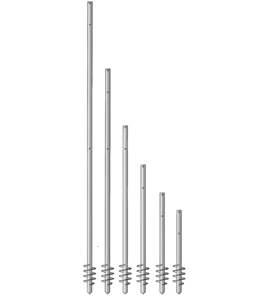 A + Concepts RVS Schroefpalen