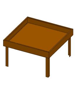 Cortenstalen Bordertafel vierkant
