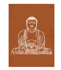Cortenstaal Schutting 'Buddha'
