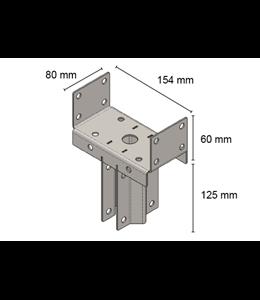 TT Paal adapter t.b.v paal 150x150 mm