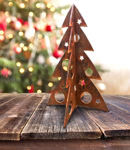 A + Concepts Cortenstalen kerstboom