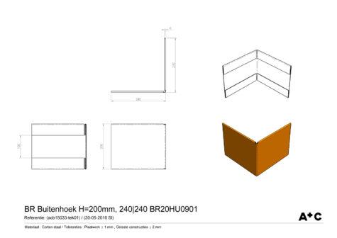 H20 | Buitenhoek borderrand - cortenstalen producten