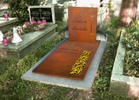 Waarom een grafmonument van cortenstaal?