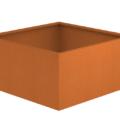 Borderbak / Plantenbak in cortenstaal - 123 x 123 x 60 cm