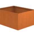 Borderbak / Plantenbak in cortenstaal - 123 x 98 x 60 cm