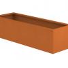 Borderbak / Plantenbak in cortenstaal - 145 x 48,5 x 38 cm