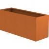 Borderbak / Plantenbak in cortenstaal - 145 x 48,5 x 60 cm
