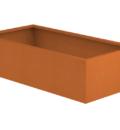 Borderbak / Plantenbak in cortenstaal - 145 x 73 x 38 cm