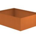 Borderbak / Plantenbak in cortenstaal - 195 x 145 x 60 cm