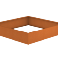 Borderbak / Plantenbak in cortenstaal - 195 x 195 x 38 cm