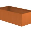 Borderbak / Plantenbak in cortenstaal - 195 x 98 x 60 cm