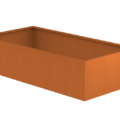 Borderbak in cortenstaal - 245 x 123 x 60 cm