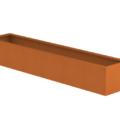 Borderbak in cortenstaal - 245 x 48,5 x 38 cm
