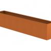 Borderbak in cortenstaal - 295 x 48,5 x 60 cm