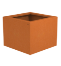 Borderbak / Plantenbak in cortenstaal - 48,5 x 48,5 x 38 cm