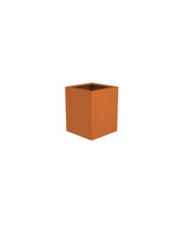 Borderbak / Plantenbak in cortenstaal - 48,5 x 48,5 x 60 cm