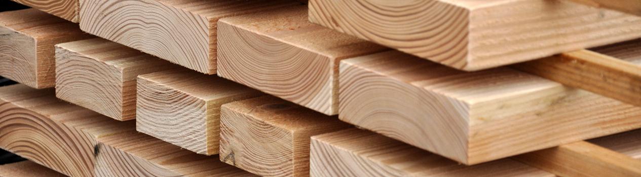Met ons Douglas balken/constructiehout